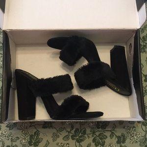 Olivia Fuzzy heels